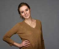 Beauty smiling girl with natural make up Royalty Free Stock Photos