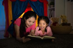 Beauty smiling lady and happy lovely little girl Royalty Free Stock Photo