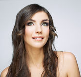 Beauty smiling woman face close up portrait. Stock Photography