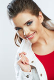 Beauty smiling woman portrait. Royalty Free Stock Photos