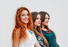 Beauty smling Girlfriends Stock Image
