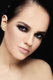 Beauty with smoky eyes Royalty Free Stock Photography