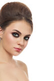 Beauty with smoky eyes Stock Photos