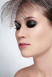 Beauty with smoky eyes Stock Photo