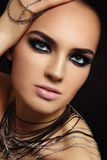 Beauty with smoky eyes Stock Image