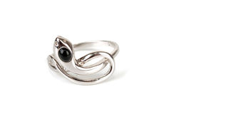 The beauty snake ring Stock Photography