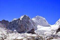 Beauty of snow laden peaks Stock Photos