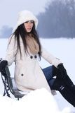 Beauty on snowy outdoors Royalty Free Stock Photo