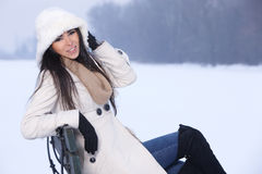 Beauty on snowy outdoors Stock Photos