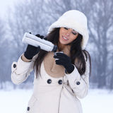 Beauty on snowy outdoors Royalty Free Stock Photos
