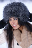 Beauty on snowy outdoors Stock Photos