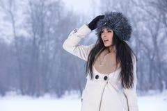 Beauty on snowy outdoors Royalty Free Stock Photos