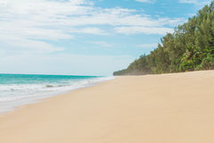 Beauty soft  beach Stock Images