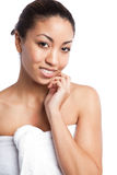 Beauty spa κορίτσι Στοκ εικόνα με δικαίωμα ελεύθερης χρήσης