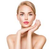 Beauty spa νέο πορτρέτο γυναικών στοκ φωτογραφία