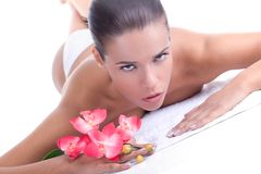 Beauty at the spa royalty free stock photography
