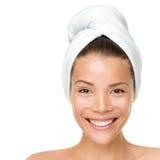 Beauty spa behandelingsvrouw stock afbeeldingen
