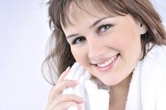 Beauty spa behandelingsvrouw Stock Foto