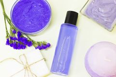 Beauty and spa concept with lavender royalty free stock photography