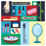 Beauty, spa, cosmetic and make up elements Royalty Free Stock Photo