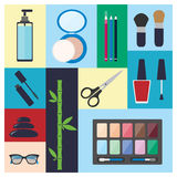 Beauty, spa, cosmetic and make up elements Stock Photography