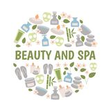 Beauty and spa design concept. stock illustration