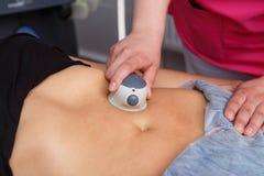 Beauty Spa die, Menselijke Hand, de Medische Laser van Liposuction, de Groei, Toekomst, Zorg, Bescherming op dieet zijn de jonge  stock fotografie