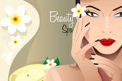 Beauty Spa flyer Royalty Free Stock Images