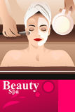 Beauty Spa flyer Stock Image