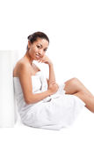 Beauty spa girl Royalty Free Stock Photos