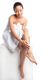 Beauty spa girl Royalty Free Stock Images