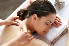 Beauty and spa. Beauty. Girl in the spa salon Royalty Free Stock Photography
