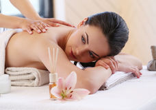 Beauty and spa. Beauty. Girl in the spa salon Royalty Free Stock Photo