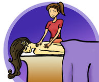Beauty spa and healthcare illustration Royalty Free Stock Images