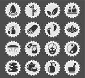 Beauty and spa icon set Royalty Free Stock Photos
