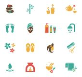 Beauty and Spa Icons Royalty Free Stock Photography