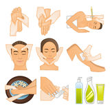 Beauty spa icons Royalty Free Stock Images