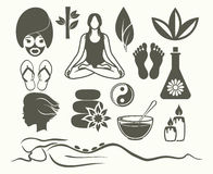 Beauty and spa icons Stock Image
