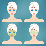 Beauty and spa procedures. Royalty Free Stock Image