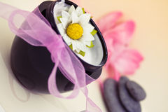 Beauty and spa relaxing wellness treatments Stock Image