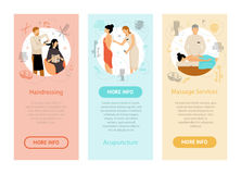 Beauty Spa Salon People Vertical Banners Royalty Free Stock Images