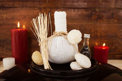 Beauty and Spa. Set of spa treatments,massage and spa concept background Stock Photo