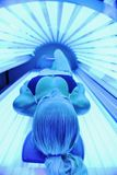 Beauty and spa solarium treatment Royalty Free Stock Photo