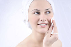 Beauty spa treatment woman Royalty Free Stock Images