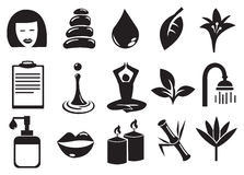 Beauty and Spa Vector Icon Set Stock Images