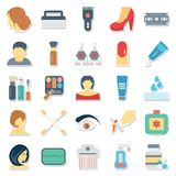 Beauty and Spa Vector Icons Use for Beauty Salon and spa Projects stock illustration