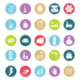 Beauty and Spa Vector Isolated Icons Editable royalty free illustration