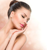 Beauty Spa Vrouwenportret Royalty-vrije Stock Afbeeldingen