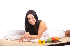 Beauty Spa Woman Portrait. Beautiful Girl Isolated Royalty Free Stock Image
