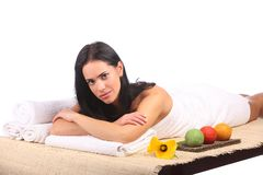 Beauty Spa Woman Portrait. Beautiful Girl Isolated Stock Image